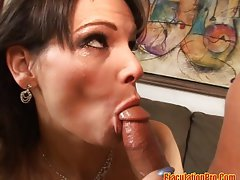 Hot MILF poked in both holes,Syren De Mer