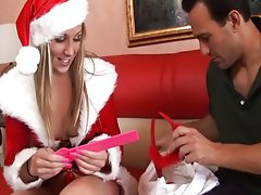 Naughty Christmas girl pussy pounded,Malia Kelly