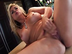 rams her fingers deep in her moist slot,Sarah Vandella
