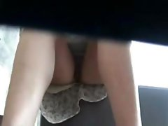 Hot pantyless upskirt at the park