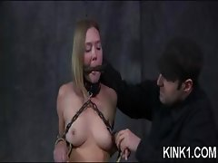 Babe Bent In Half By Bondage