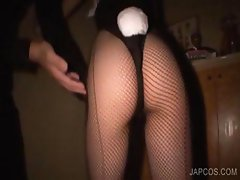 Asian bunny gets pussy fingered