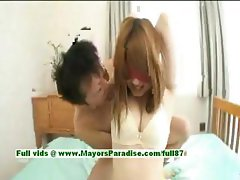 Erika Kurisu innocent naughty asian girl gets undressed
