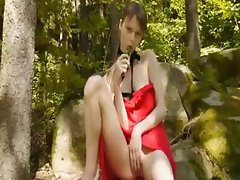 grass forest masturbation