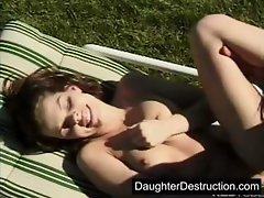 Cute teen daughter roughly hatefucked