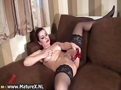 Dirty whore in black stockings fucking part4