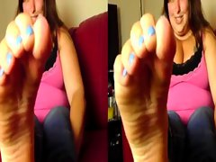 POV in 3-D Worship and Smell Sydney's Stinky Feet