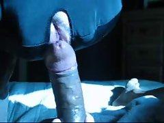 Deepthroating 9 inch BBC daddy