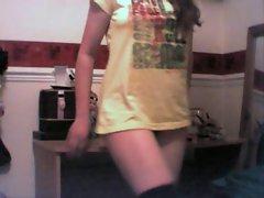 Weird girl strips... (UK)