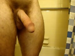 Quick cummy spurt in the shower