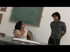 Sexy Asian Teacher educate her student about good nutrition.