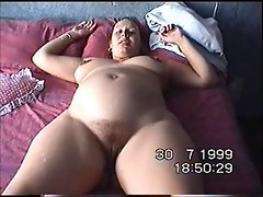 Wife Esther plays with her cunt