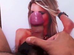 Cock & Cum on Bikini babe Amanda compilation pt.2