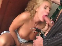 Russian milf whore seduces, fucks and moans