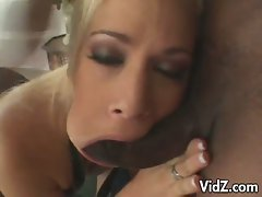 Mia bang gobbles down this big hard cock