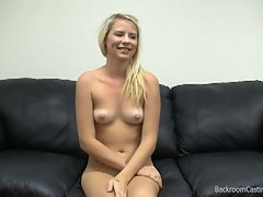 Blonde russian teen babe fucked in fake casting