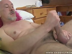 Daddy dave jerks off his nice mature cock.