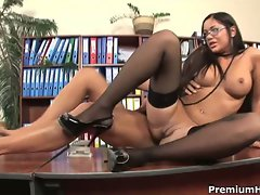 Busty secretary angelica heart fucked by boss hd