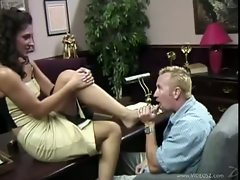 Merisa gets her pussy licked on the office desk