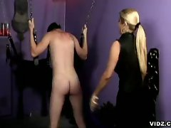 Hot blonde mistress nicolette femdom bdsm bondage and whipping