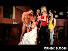 Naughty shenanigans with horny drunk babes and two hot studs