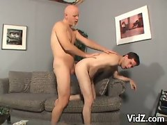 Young exec guy butt gets fucked by bald headed man