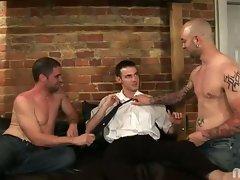 Naughty threesome with brian, johnny maverick and sam swift