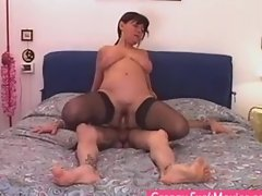 Granny whore fucking for herself