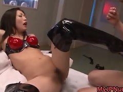 Emi Harukaze Asian beauty in a sexy part4