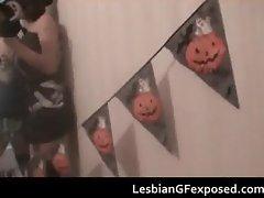 Crazy Halloween lesbian party part1