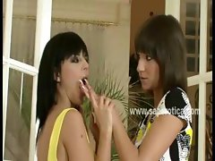 Beautifull slutty lesbians with firm teen bodies and round asses fuck each other