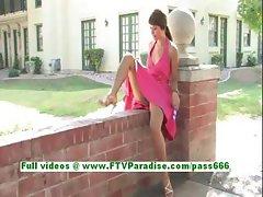 Melina sexy redhead girl toying pussy and having fun