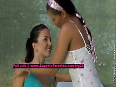 Billy and Isabella teen lesbians teasing