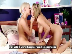 Zoe and Carie stunning lovely lesbians anal toying