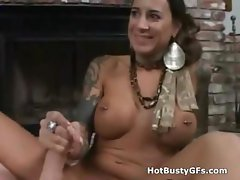 Juicy Big Tits POV Handjob