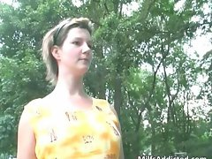 Chubby shaves her muff when husband