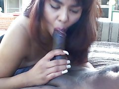 Chubby honey hungrey for dark meat
