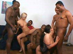 Cute interracial whores love it rough 1