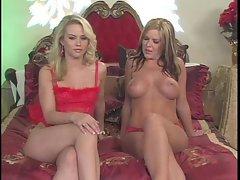 Sophia Lynn and Christine Vinson have hot lesbian action