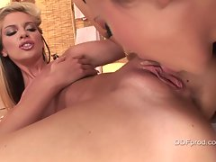 Big titted tight ass Bambi squeals in delight as she is fingered hard