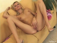 Sophie Paris toys with her hot tits and wet, pink slit