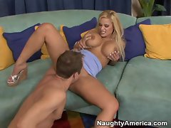 Shyla Stylez fucks a huge dick hardcore with her sweet little pussy