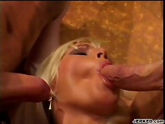 Slut Kathy Anderson has a one dick at a time policy when dealing with duo cocks