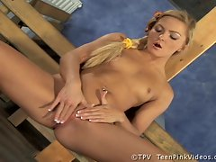 Nicky Angel can not wait to have her teen pussy stuffed until she cums