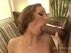 Hailey Young give a big dick a hardcore blowjob