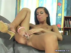 Klara Smetanova works her slit to the limit with this big rubber dick