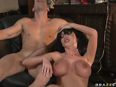 Hot and heavy fucking action followed by a cumshot for sexy Nikki Benz