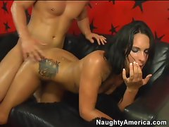 Kitty Bella delights in taking a hard fucking from a huge cock