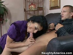 Persia Pele works for a raise by going down on a coworker with gusto