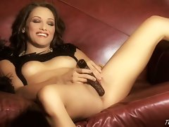 Celeste Star gets crazy on herself until she cums all the way